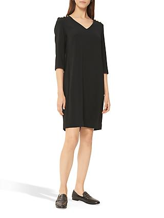 Gerard Darel Daryl Button Shoulder Dress, Black