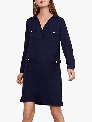 Gerard Darel Domencia Crepe Shirt Dress, Marine