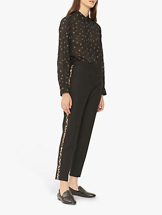Gerard Darel Lox Leopard Stripe Trousers, Black