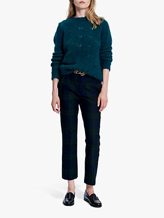Gerard Darel Louisiane Check Trousers, Blue