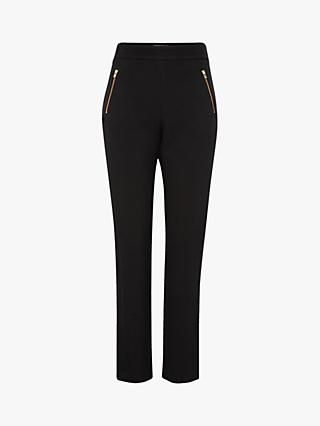 Gerard Darel Loren Zip Detail Trousers, Black