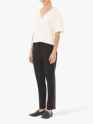 Gerard Darel Loly Embellished Wool Mix Trousers, Black