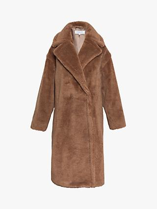 Gerard Darel Polin Faux Fur Coat, Camel