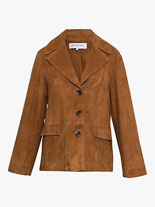 Gerard Darel Nora Suede Jacket, Brown