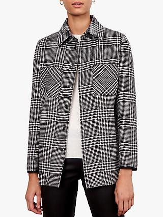 Gerard Darel Verona Check Jacket, Black