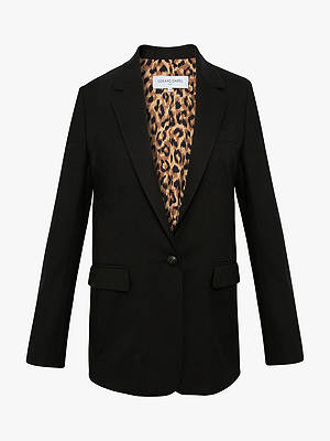 Buy Gerard Darel Valentina Single Breasted Blazer, Black, 8 Online at johnlewis.com