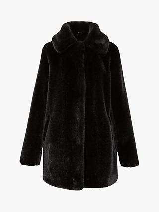 Gerard Darel Piana Faux Fur Coat, Black