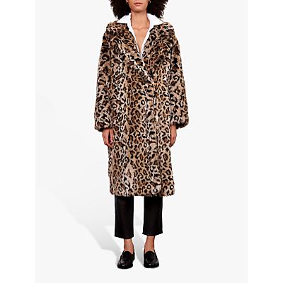 Gerard Darel Arianna Animal Print Coat, Brown