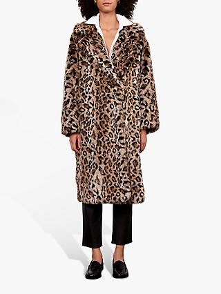 Gerard Darel Arianna Animal Print Coat, Brown