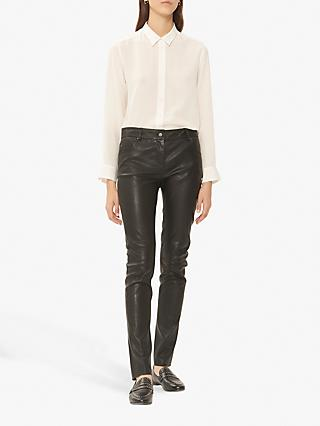 Gerard Darel Neyl Leather Jeans, Black