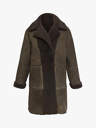Gerard Darel Ambre Sheepskin Coat, Grey