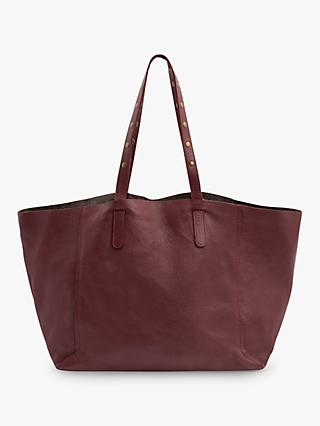 Gerard Darel Simple Two Leather Tote Bag