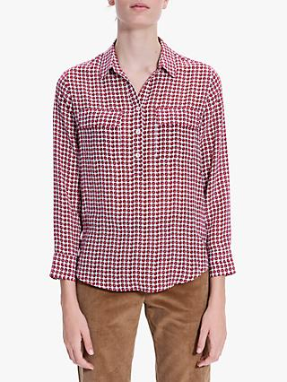Gerard Darel Marla Abstract Print Shirt, Ecru/Red