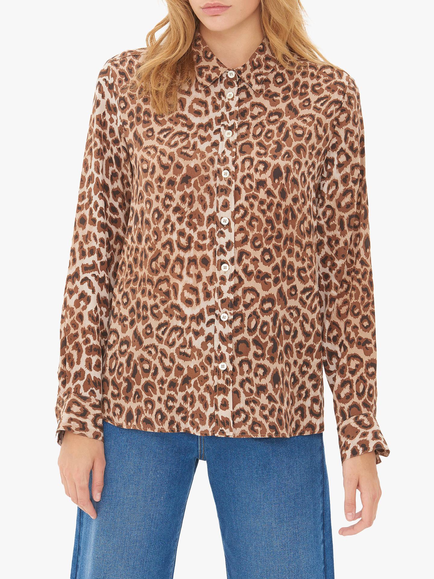 c88574669e1e Buy Gerard Darel Maya Leopard Print Blouse, Brown, 8 Online at  johnlewis.com ...