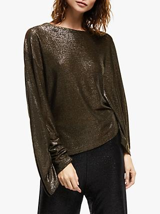 Modern Rarity Paula Knorr Drape Sleeve Top, Gold