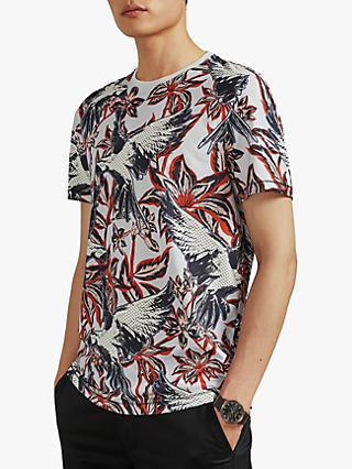 Ted Baker Tieler Parrot Print T-Shirt, Light Blue