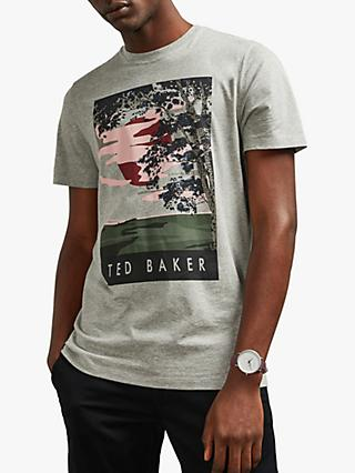 Ted Baker Sunrise Print T-Shirt, Grey Marl
