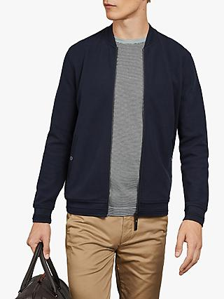 Ted Baker Flak Zip Through Sweatshirt, Navy