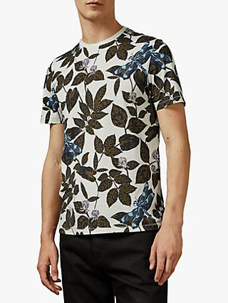 Ted Baker Upgrade Dragonfly Print T-Shirt, Ecru