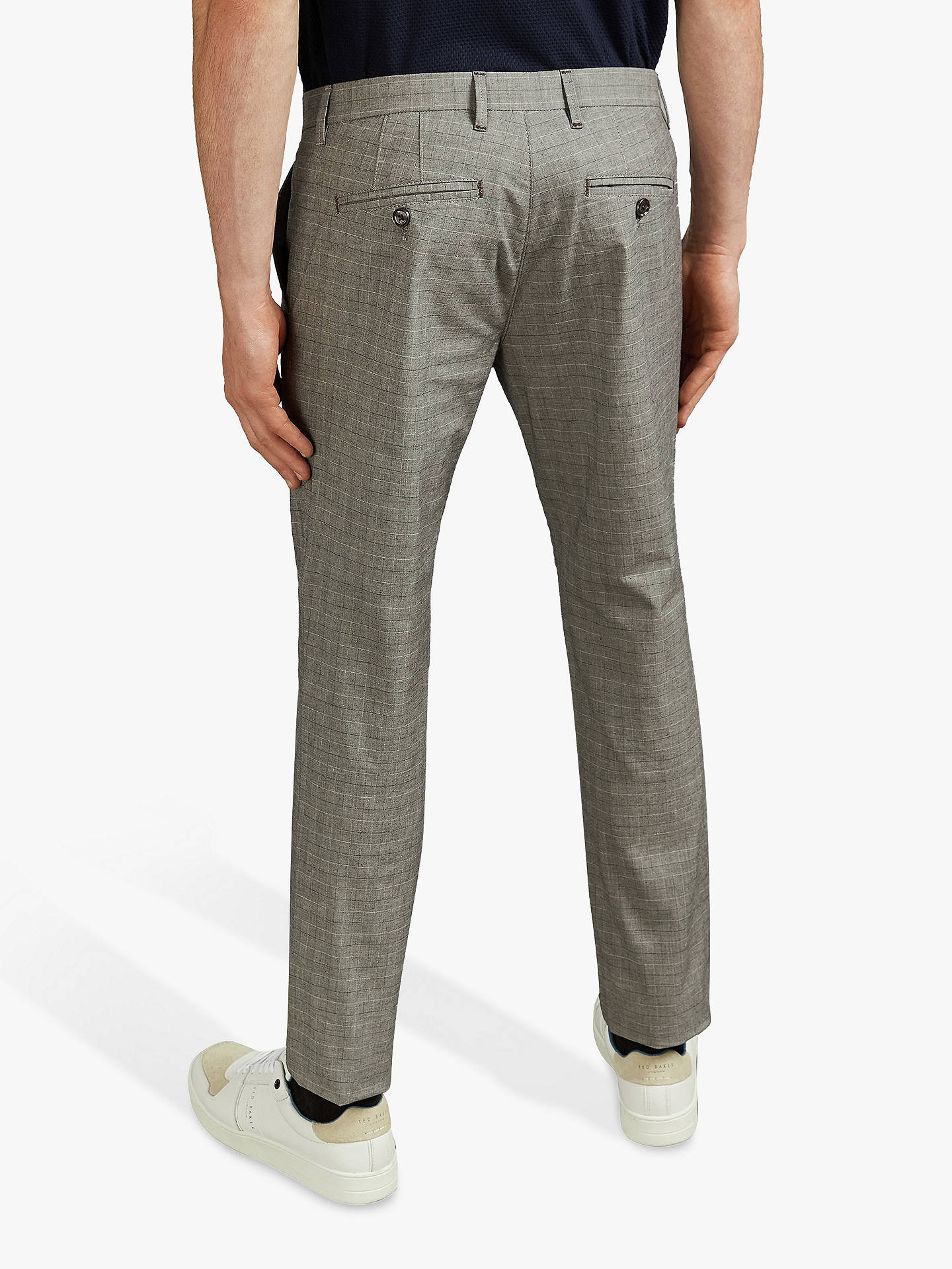 Buy Ted Baker Sari Trousers, Grey, 32R Online at johnlewis.com