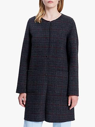 Gerard Darel Check Wool Coat, Grey