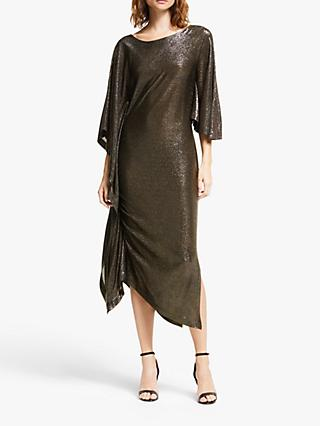 Modern Rarity Paula Knorr Long Ruffle Dress, Gold