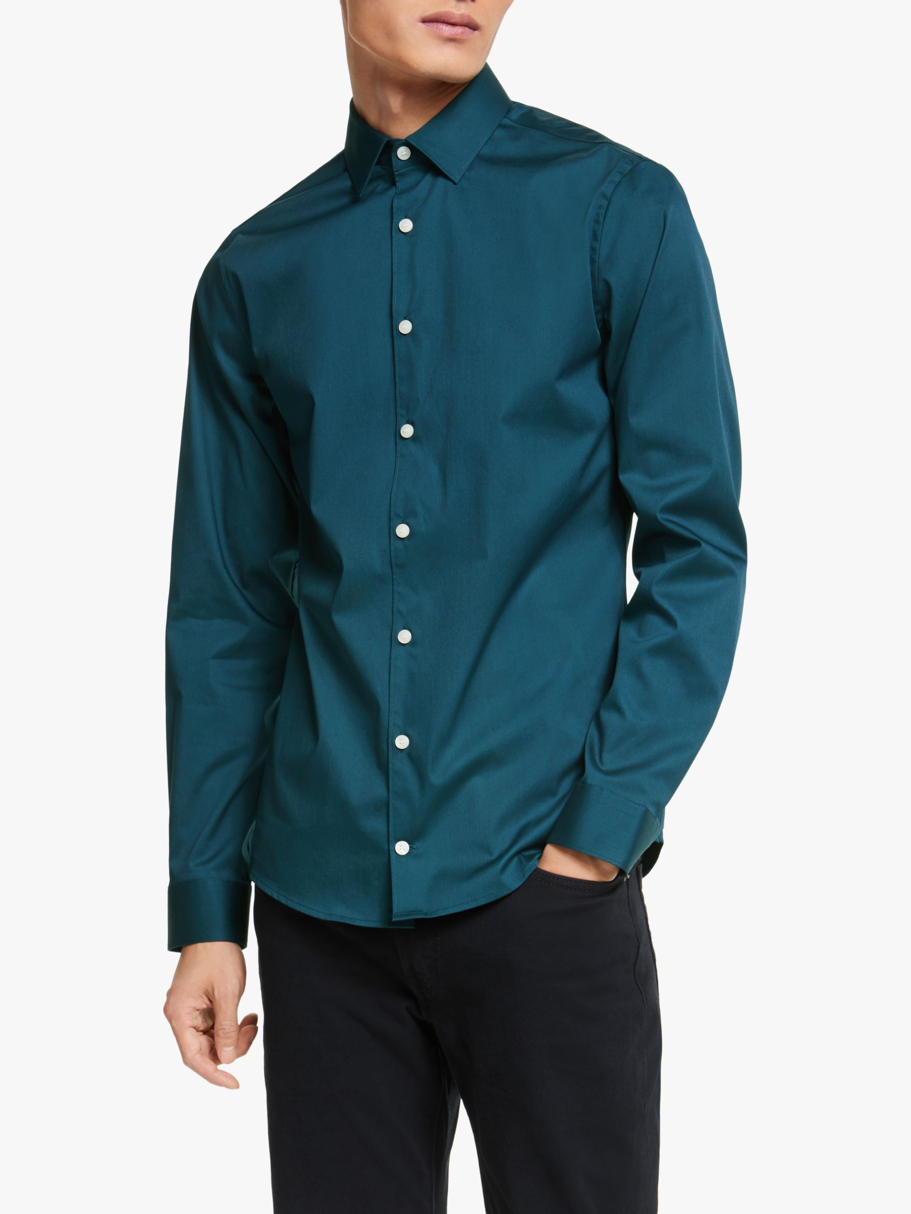 Tiger of Sweden Tiger of Sweden Filbrodie Regular Fit Shirt, Green
