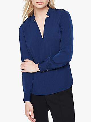 Damsel in a Dress Hailey V-Neck Blouse ,Navy
