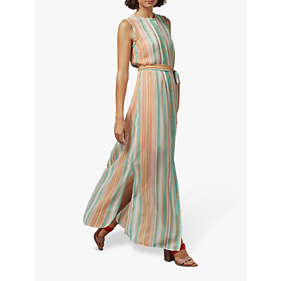 Ted Baker Canpar Stripe Maxi Dress, Orange/Mint