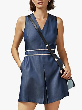 Ted Baker Lagoa Playsuit, Blue Denim