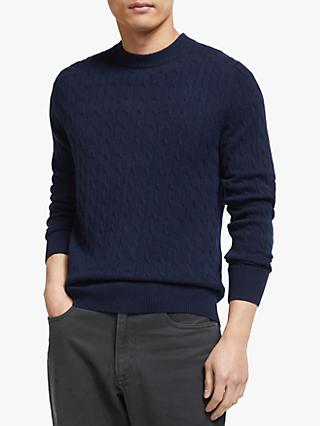 John Lewis & Partners Cashmere Cable Knit Jumper