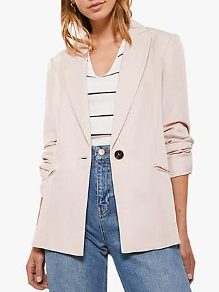 Mint Velvet Tailored Blazer, Light Pink