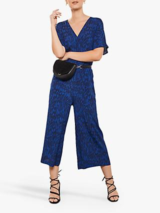 Mint Velvet Hope Print Culotte Jumpsuit, Multi