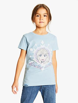 Frozen Girls' Sequin T-Shirt, Blue