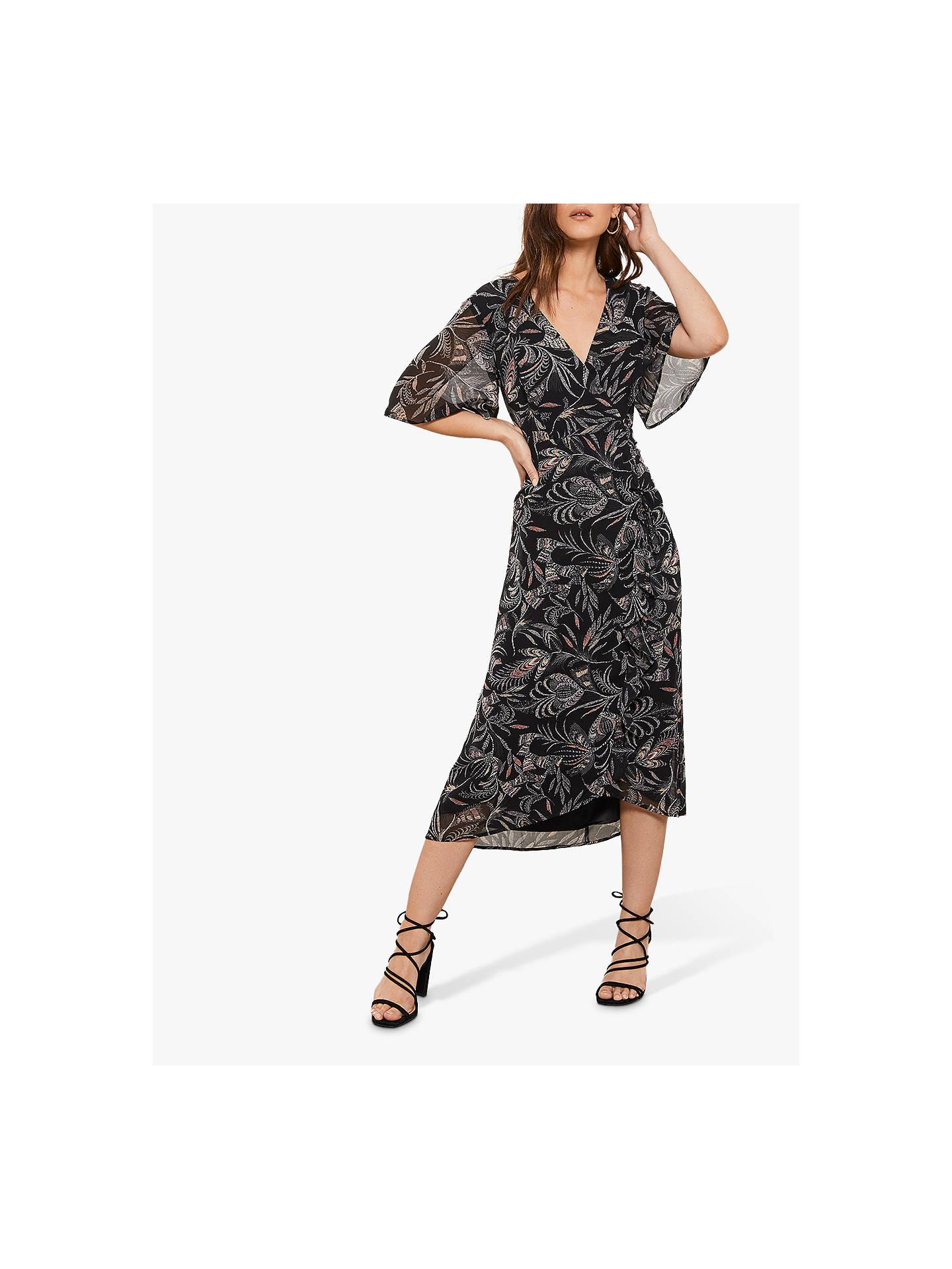 40340c060988 Buy Mint Velvet Bella Print Ruched Dress, Multi, 6 Online at johnlewis.com  ...