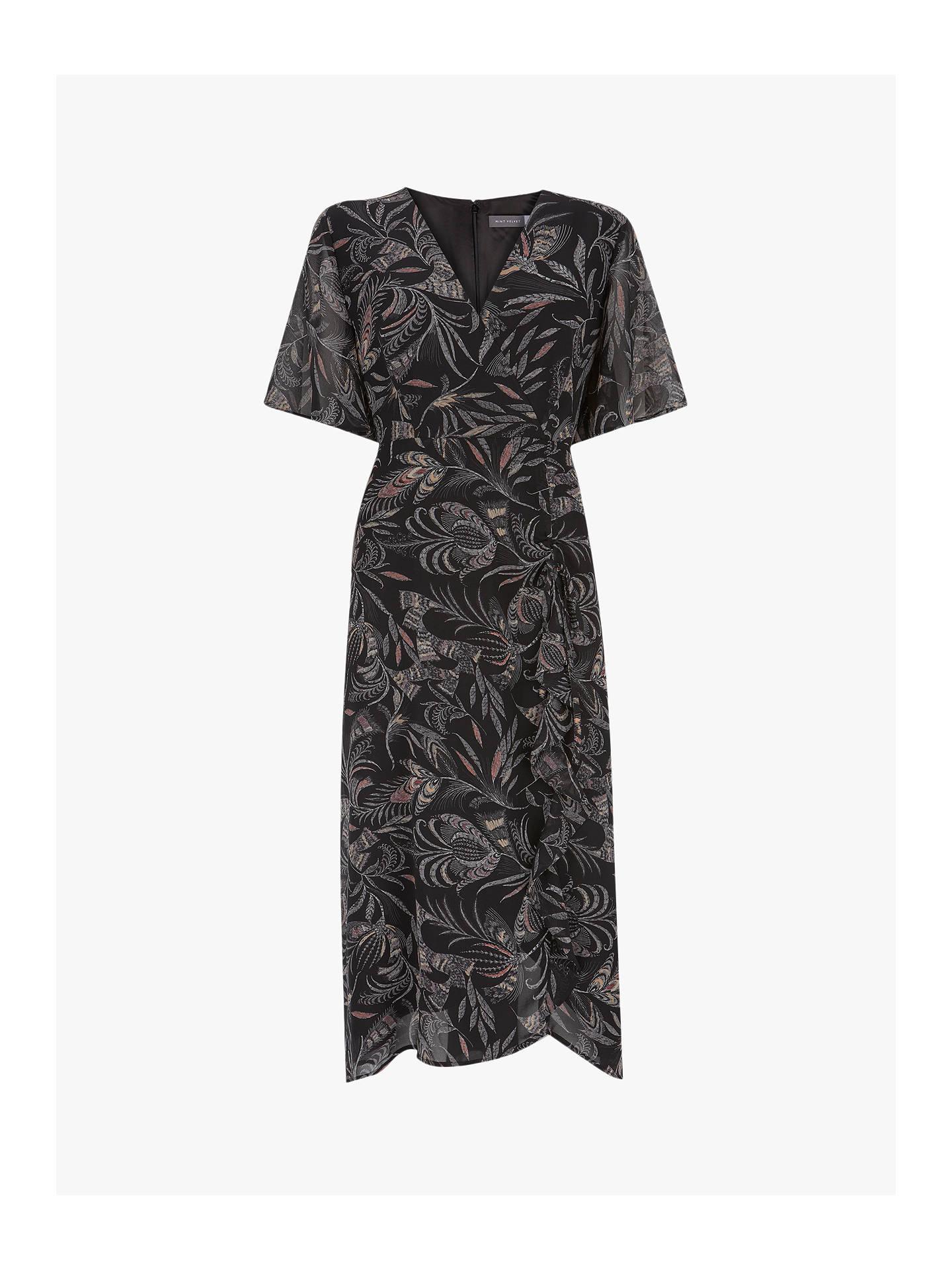 cfab70bccb49 ... Buy Mint Velvet Bella Print Ruched Dress, Multi, 6 Online at  johnlewis.com ...