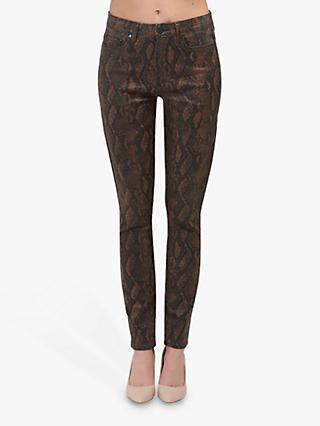 Paige Hoxton Ultra Skinny Jeans, Brown Snake
