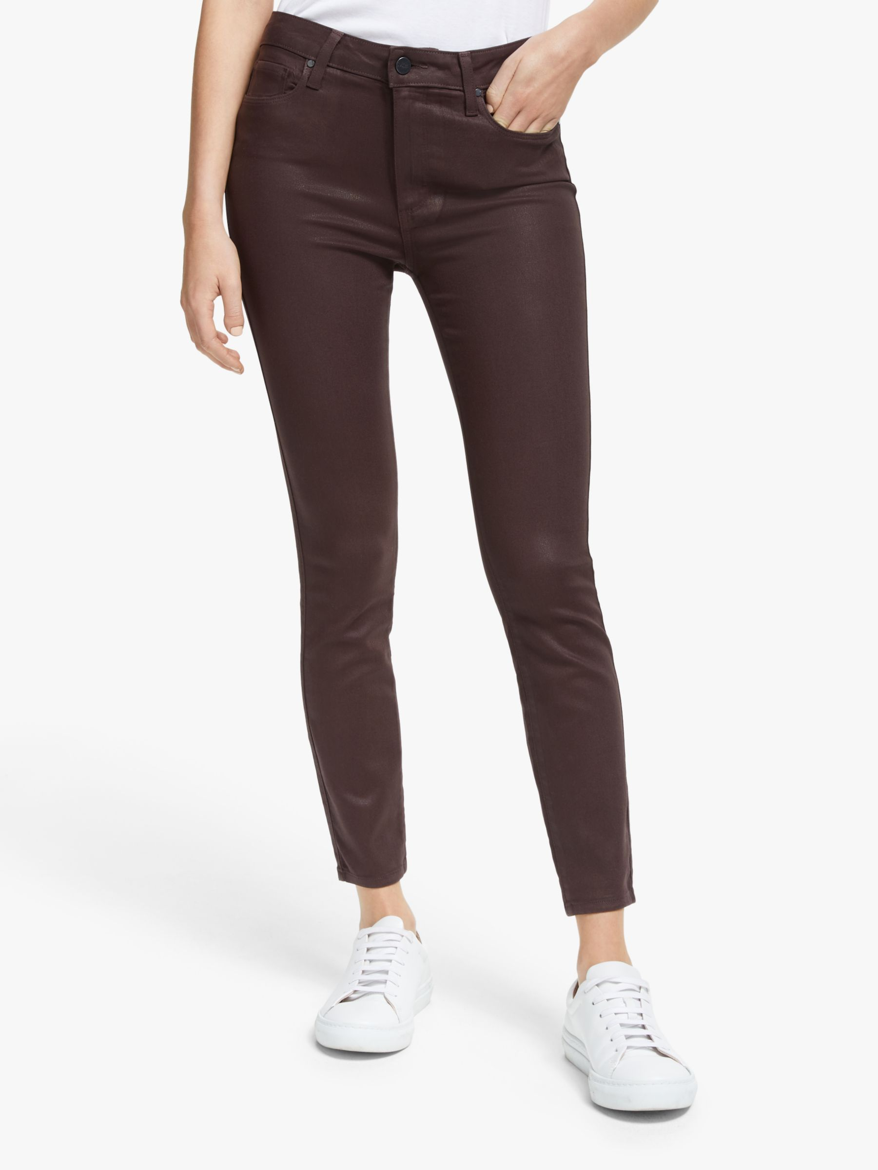 Paige Paige Hoxton Coated Skinny Ankle Jeans, Chicory Coffee