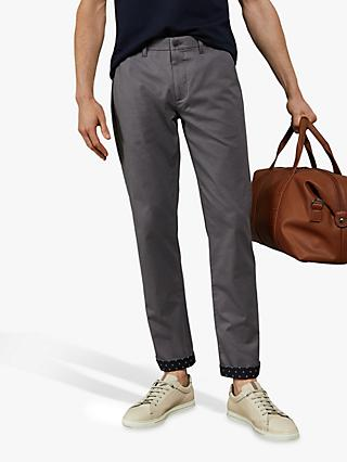 Ted Baker Slintea Slim Fit Semi Plain Trousers