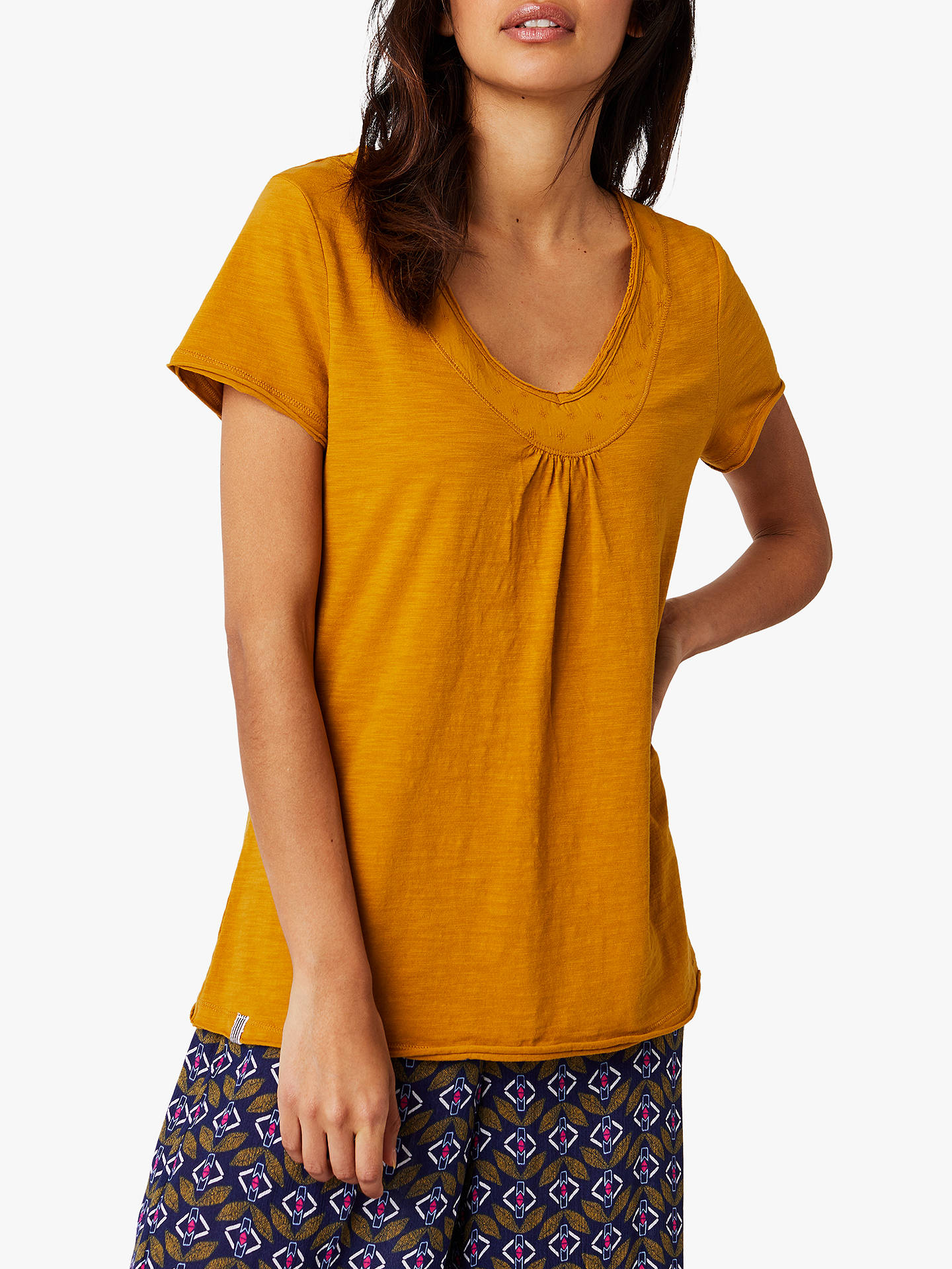 Buy White Stuff Thimble Cotton Jersey T-Shirt, Gold, 6 Online at johnlewis.com