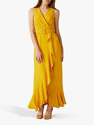 Phase Eight Lara Belted Dress, Canary