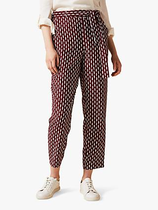 Phase Eight Abby-Jayne Tie Waisband Trousers, Cinnamon