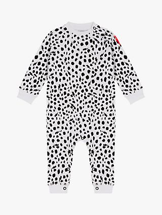 Scamp & Dude Baby Cheetah Print Romper, White