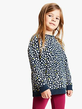 Scamp & Dude Children's Cheetah Sweatshirt, Navy