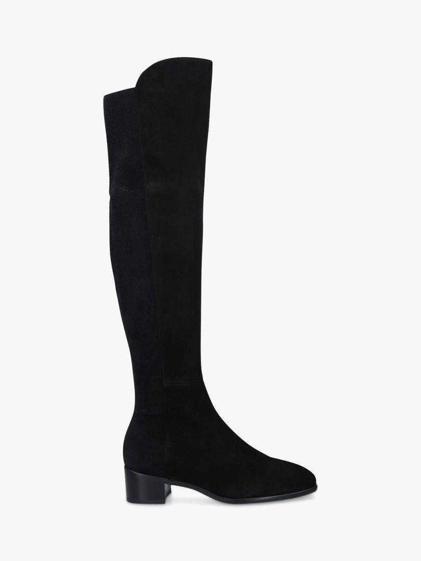 Stuart Weitzman Stuart Weitzman Tia Suede Over the Knee Boots, Black