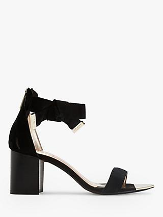 Ted Baker Loopie Suede Block Heel Sandals, Black