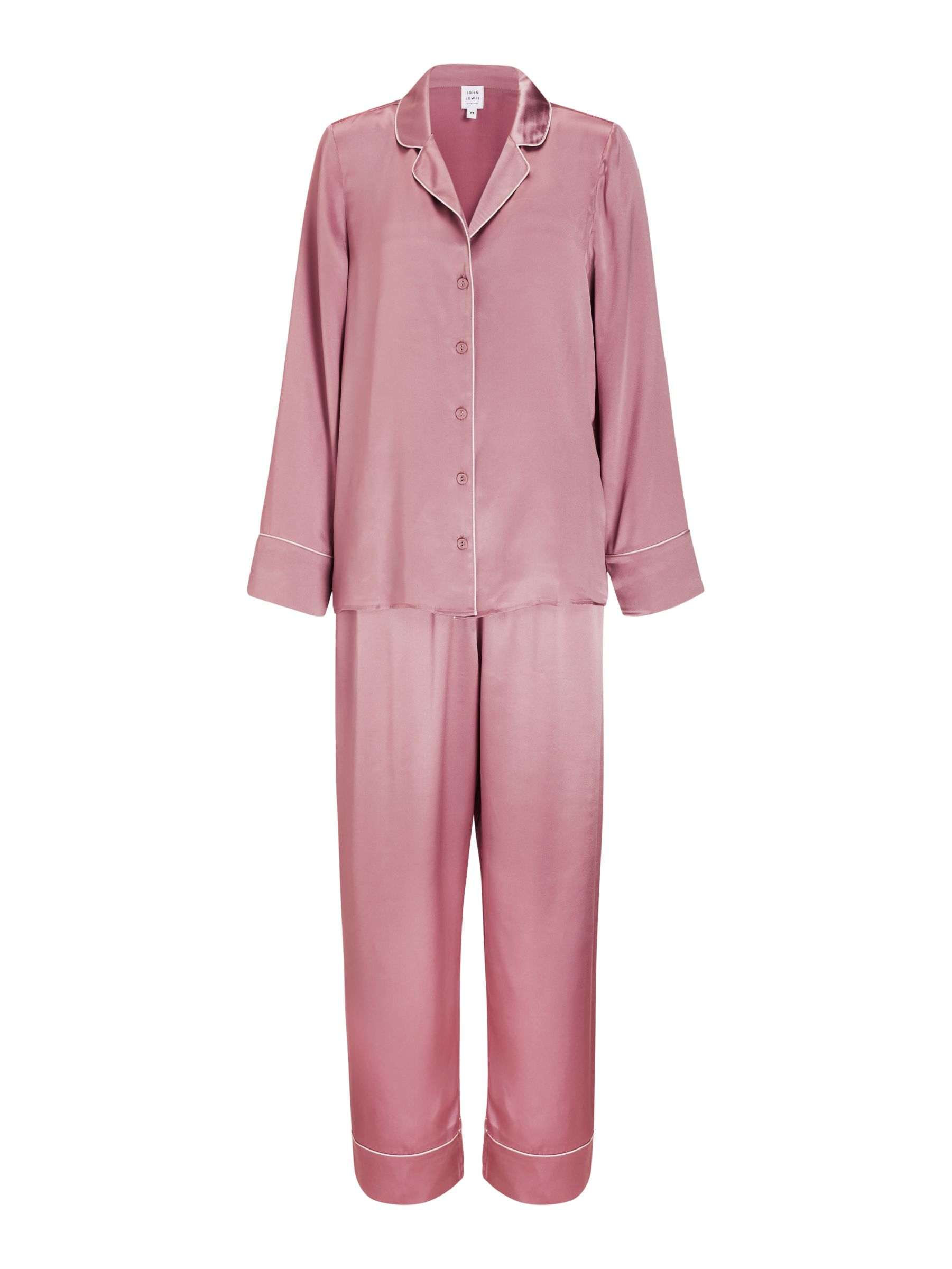 Buy John Lewis & Partners Nina Silk Pyjama Set, Rose, S Online at johnlewis.com