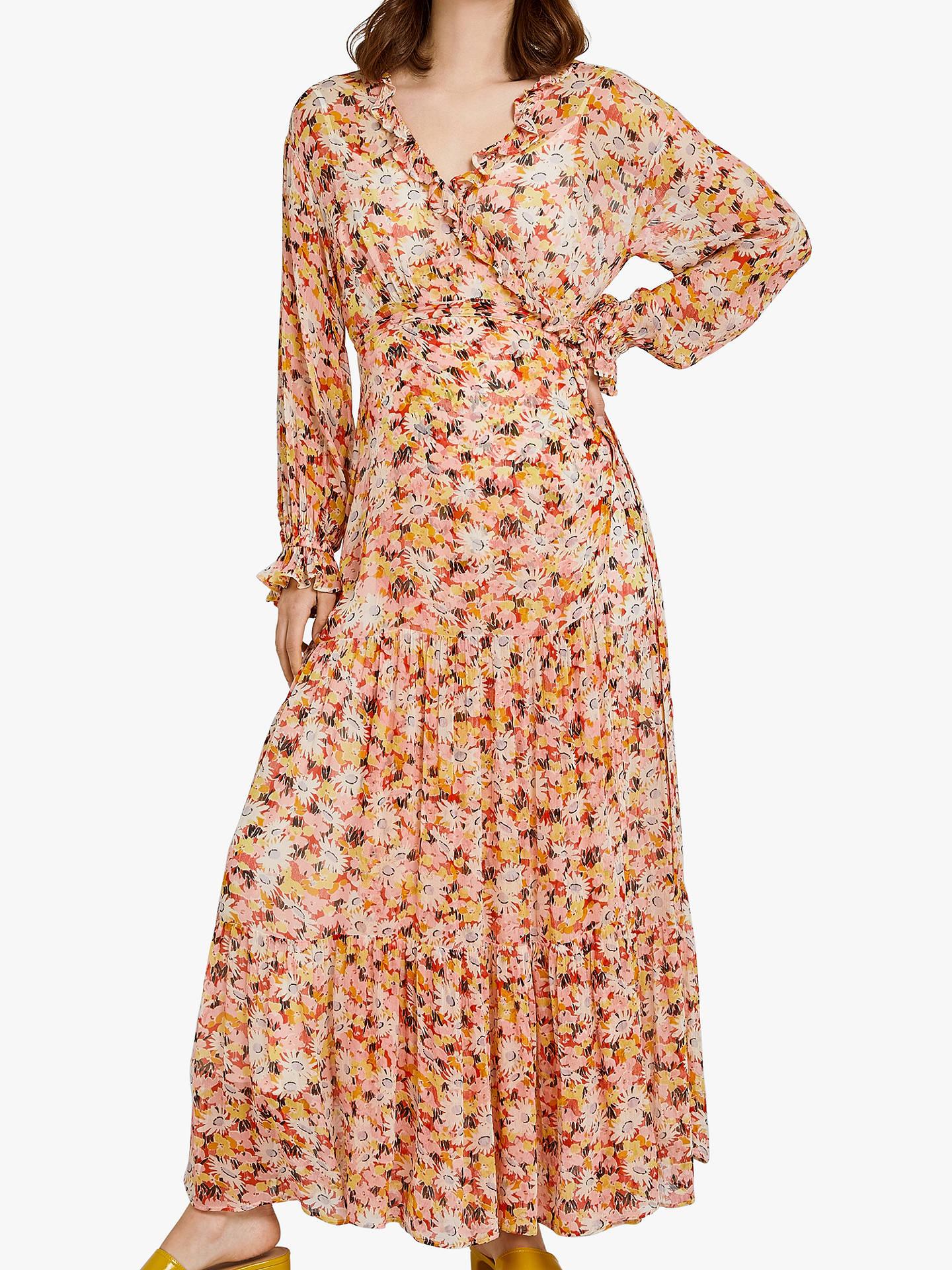 ffe506fa3296 Buy Ghost Jasmine Wrap Dress, Retro Floral, XS Online at johnlewis.com ...