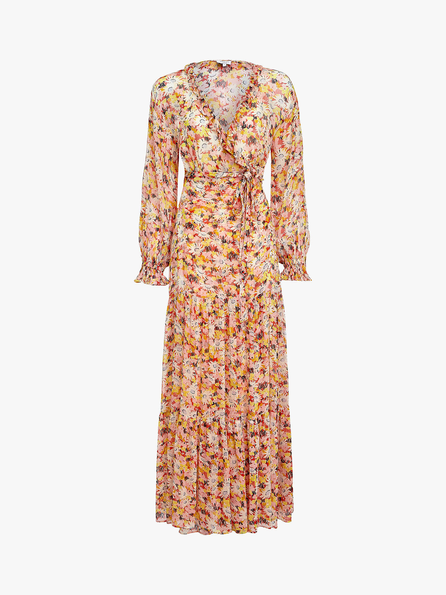 5a8843509e42 ... Buy Ghost Jasmine Wrap Dress, Retro Floral, XS Online at johnlewis.com  ...