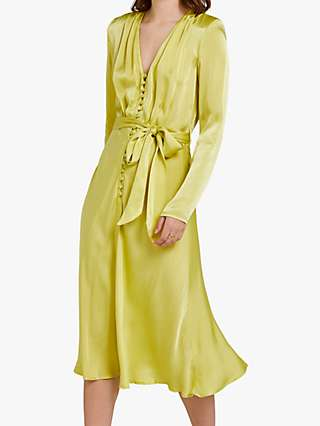 Ghost Meryl Wrap Tie V-Neck Dress